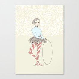 Harlequin Girl Canvas Print