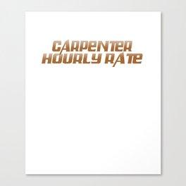 Carpenter Shirt For Dad/Grandpa. Canvas Print