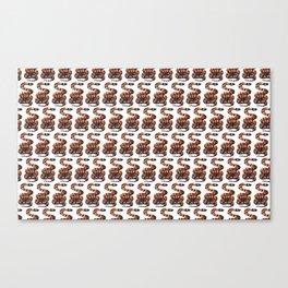 coral sanke pattern Canvas Print
