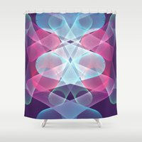 psychedelic Shower Curtains featuring Psychedelic by Scar Design