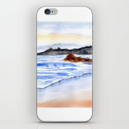 waves and wet sand iPhone Skin