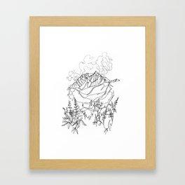 Lupine Time :: Single Line Framed Art Print