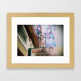 Great Star Theater Framed Art Print