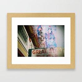 Great Star Theater Framed Art Print