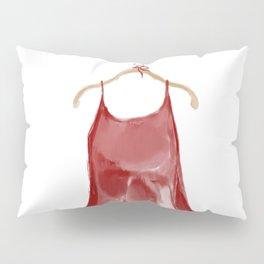 Red silk slip dress Pillow Sham
