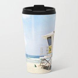 California Beach Photography, Lifeguard Stack Shack San Diego, Coastal Photograph Travel Mug
