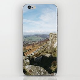 View from Curbar Edge. Derbyshire, UK. iPhone Skin
