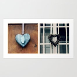 Collecting Hearts  - JUSTART © Art Print