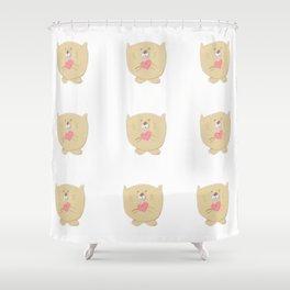 Curious buddy Shower Curtain
