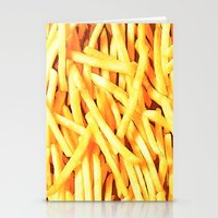 french fries Stationery Cards featuring FRENCH FRIES for IPhone by Vertigo