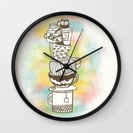 Stack O' Mugs Wall Clock