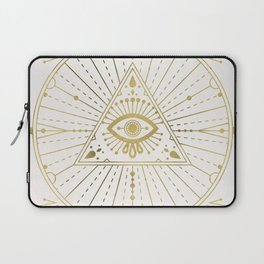 All-Seeing Eye Mandala – Gold Palette Laptop Sleeve