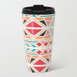 Tribal ethnic geometric pattern 025 Metal Travel Mug