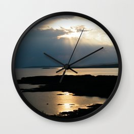 Sun set on Isle of Skye Wall Clock