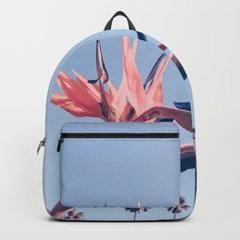 Birds of Paradise Print {3 of 3} | Palm Trees Ocean Summer Beach Cool Blue Photography Art Backpack