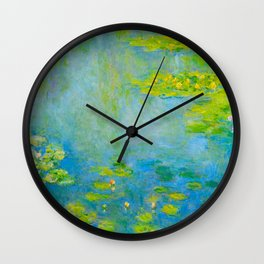 Claude Monet Impressionist Landscape Oil Painting Water Lilies Wall Clock