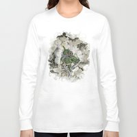archan nair Long Sleeve T-shirts featuring Dragon of The Mist by Michael Hammond