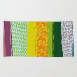 Happy Vibes Beach Towel