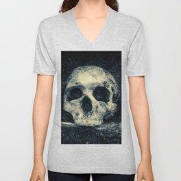 Old Skull - Memento Halloween Unisex V-Neck