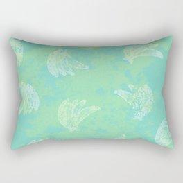 Banana Bunches Chalk Pattern Rectangular Pillow