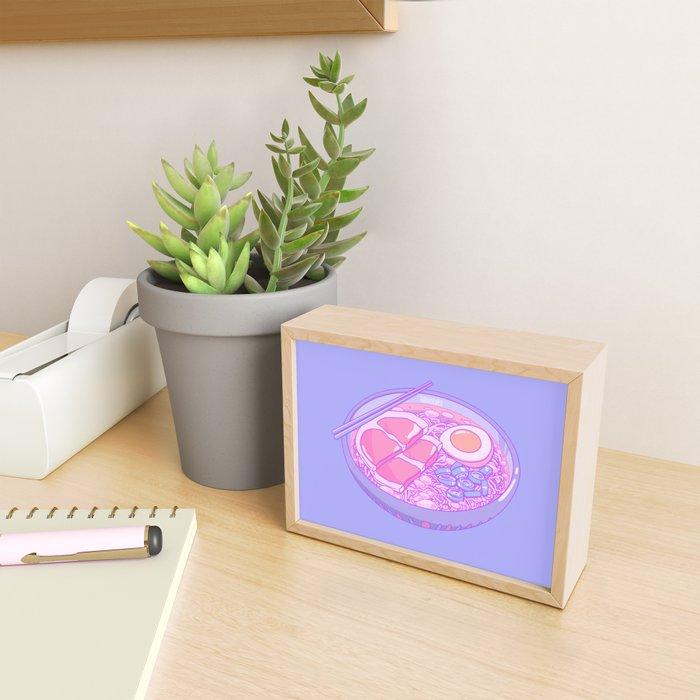 Pastel Ramen Framed Mini Art Print