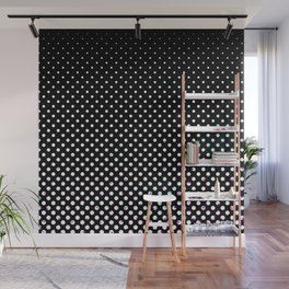 Black & white circles Wall Mural