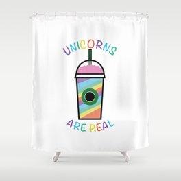 Unicorn Frappuccino Realeness Shower Curtain