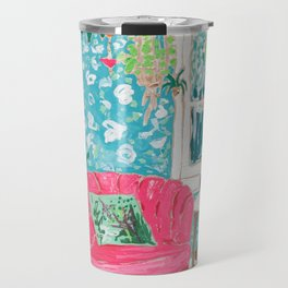 Pink Tub Chair Travel Mug
