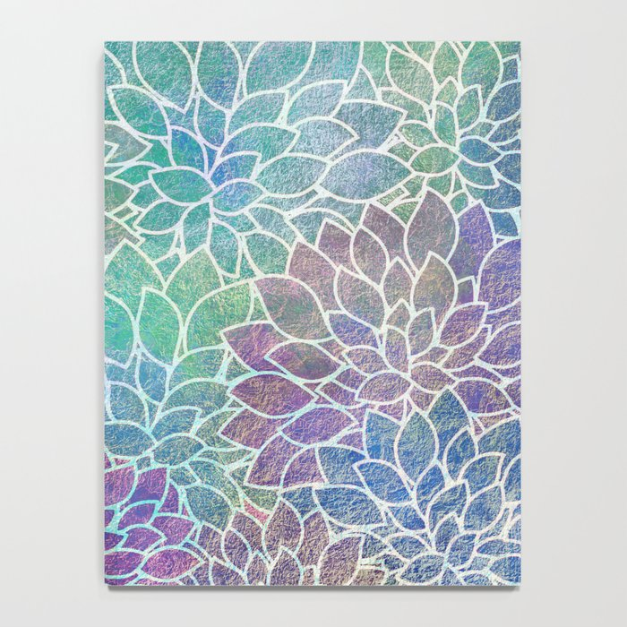 Floral Abstract 9 Notebook