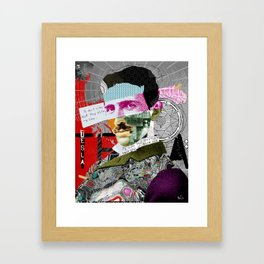Nikola Portrait Collage Art Framed Art Print