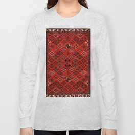 -A30- Red Epic Traditional Moroccan Carpet Design. Long Sleeve T-shirt