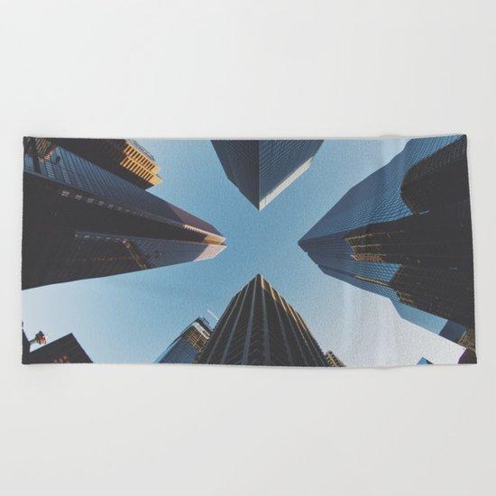 NYC Skyscrape Beach Towel