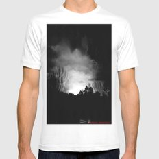 Coming Out Of The Darkness Mens Fitted Tee White MEDIUM