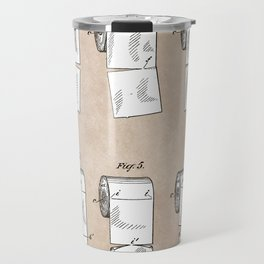 patent - Wheeler - Wrapping or Toilet paper roll - 1891 Travel Mug