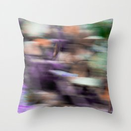 Fast in Flight - A Colorful Abstract Motion Blur Throw Pillow