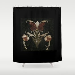 Antique Flowers No.1 by Kathy Morton Stanion Shower Curtain
