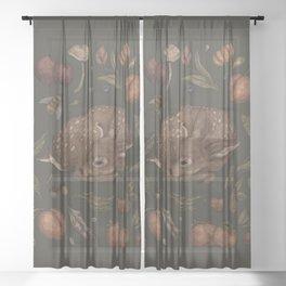 Foraging Fawn Sheer Curtain