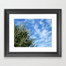 Christmas Tree and Blue Skies Framed Art Print