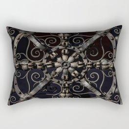 Pretty ornamented gate Rectangular Pillow