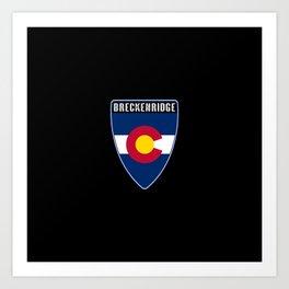 Breckenridge Colorado Shield Art Print