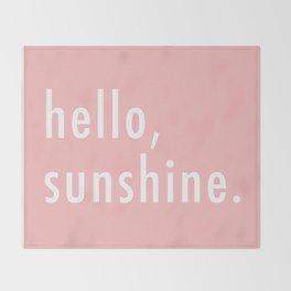 Hello Sunshine Throw Blanket