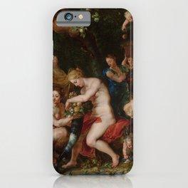 "Jan Brueghel the Elder, Peter Paul Rubens ""Nymphs Filling the Cornucopia"" iPhone Case"