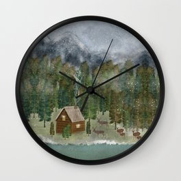 happy in the wilderness Wall Clock
