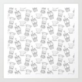 Coffee Brewing Pattern Art Print