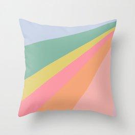 Sweet Rainbow Road Throw Pillow