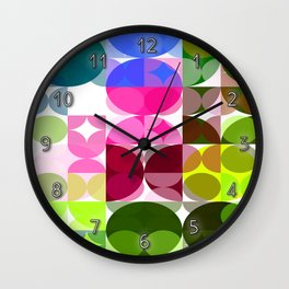 Rosas Moradas 4 Abstract Circles 3 Wall Clock