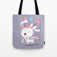 sylveon Tote Bags featuring Sylveon by Rod Perich