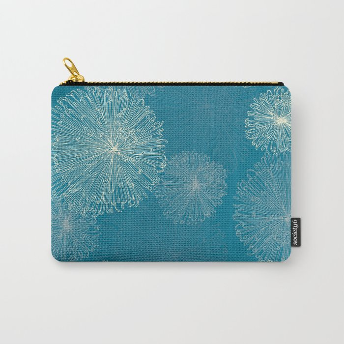 Spider Chrysanthemums Carry-All Pouch