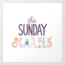 The Sunday Scaries Art Print