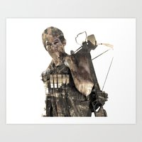 daryl Art Prints featuring Daryl TWD by Yousef